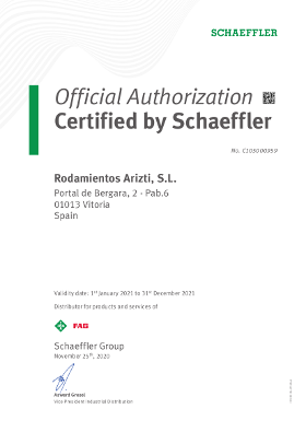 Certified by Schaeffler
